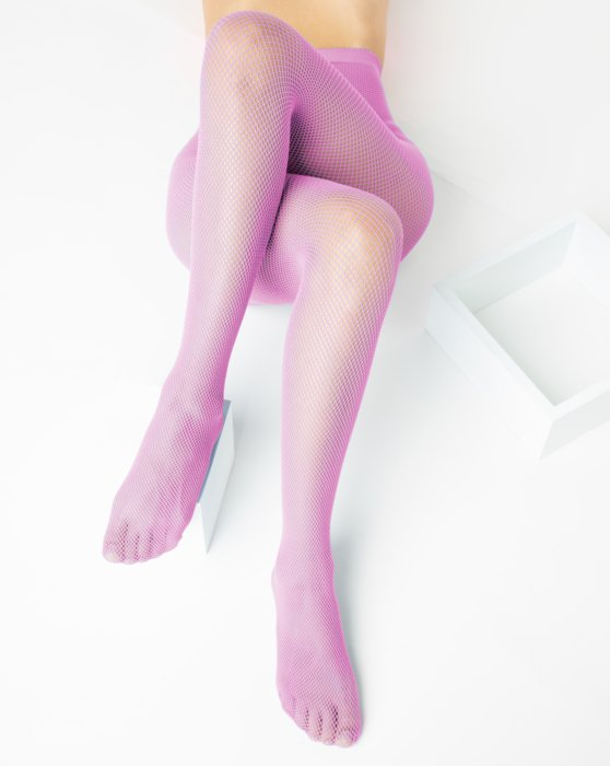 Orchid Pink Nylon/Lycra Fishnets Style# 1401 | We Love Colors