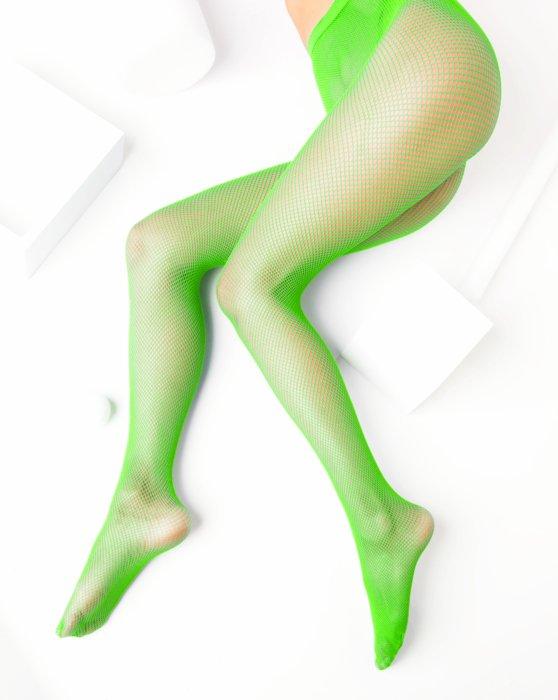 Neon Green Nylon/Lycra Fishnets Style# 1401 | We Love Colors