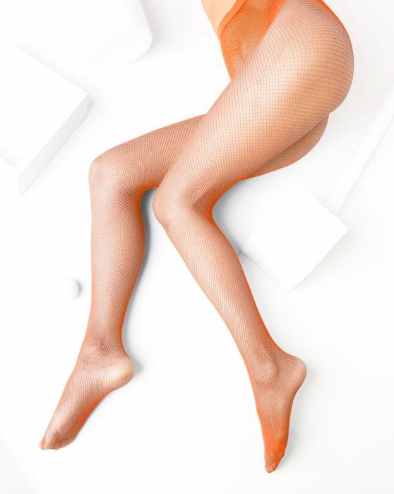 Orange Nylon/Lycra Fishnets Style# 1401 | We Love Colors