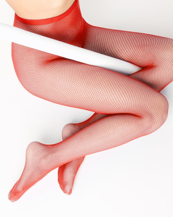 1401 W Scarlet Red Fishnets