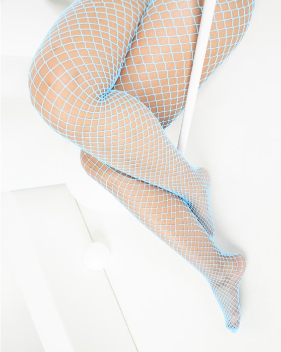 1403 Aqua Wide Net Dance Fishnets