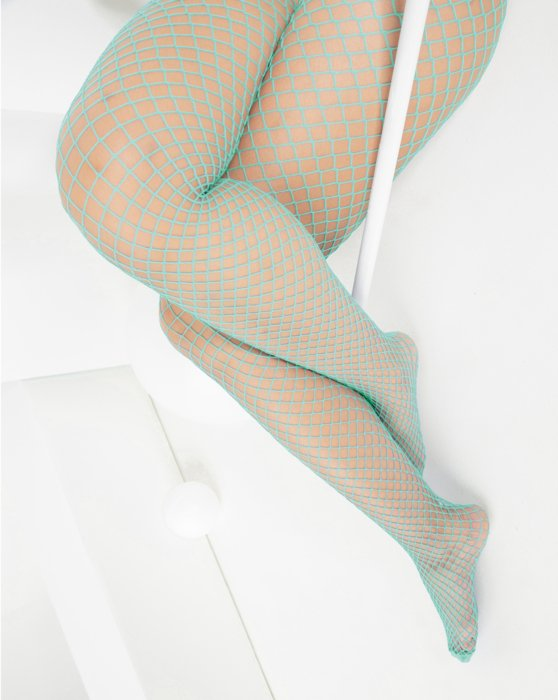 Dusty Green Wide Mesh Fishnet Pantyhose Style# 1403 | We Love Colors
