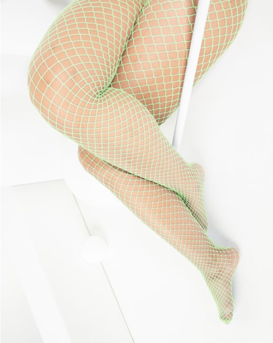 Mint Green Wide Mesh Fishnet Pantyhose Style# 1403 | We Love Colors