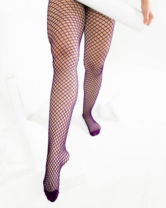 Rubine Wide Mesh Fishnet Pantyhose Style# 1403   We Love Colors