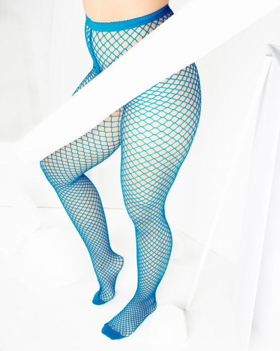 1403 Turquoise Wide Net Fishnets