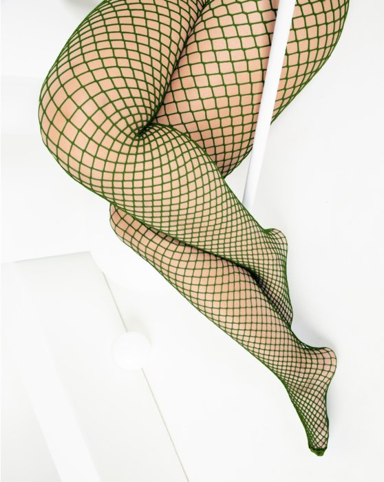 1403 Wide Net Fishnets Olive Green