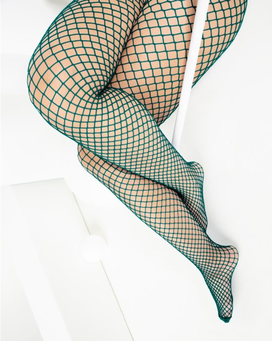1403 Wide Net Fishnets Spruce Green