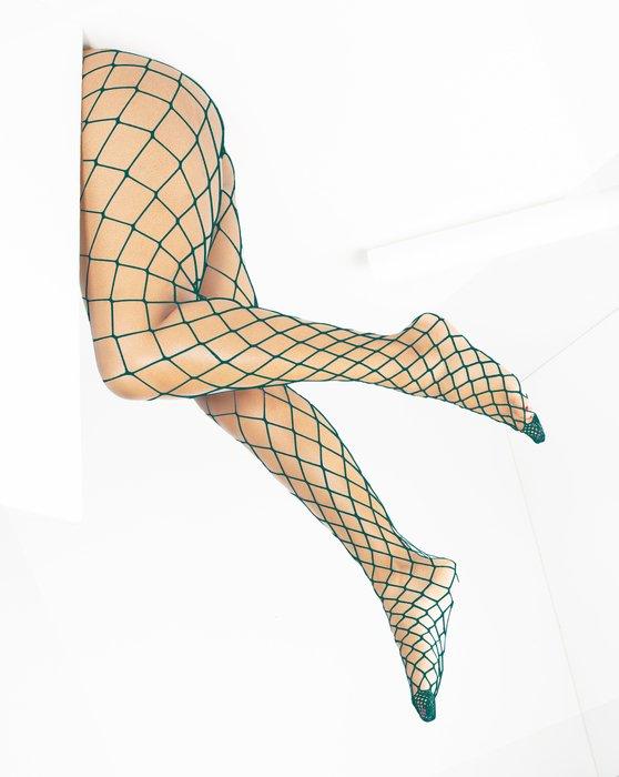 Hunter Green Diamondnet Fishnet Style# 1405 | We Love Colors
