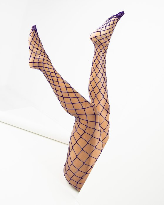 1405 Purple Diamond Fishnets