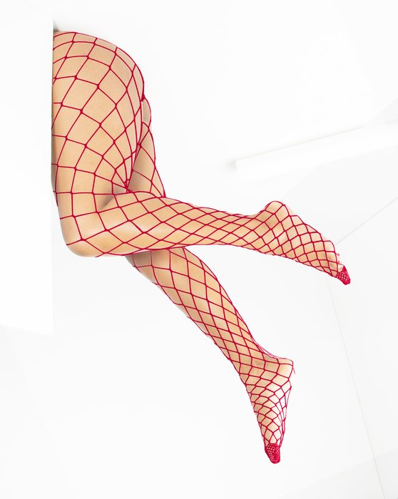 1405 Red Diamond Fishnets