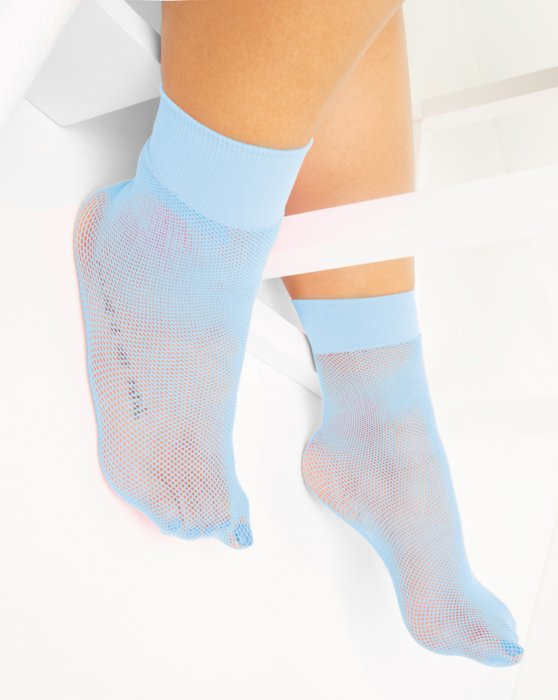 Baby Blue Fishnet Anklet Style# 1429 | We Love Colors