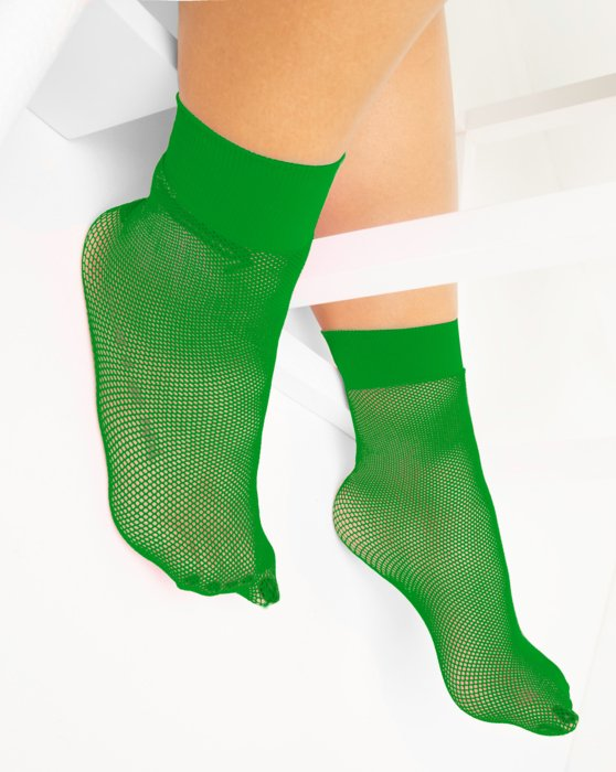 Kelly Green Fishnet Anklet Style# 1429 | We Love Colors