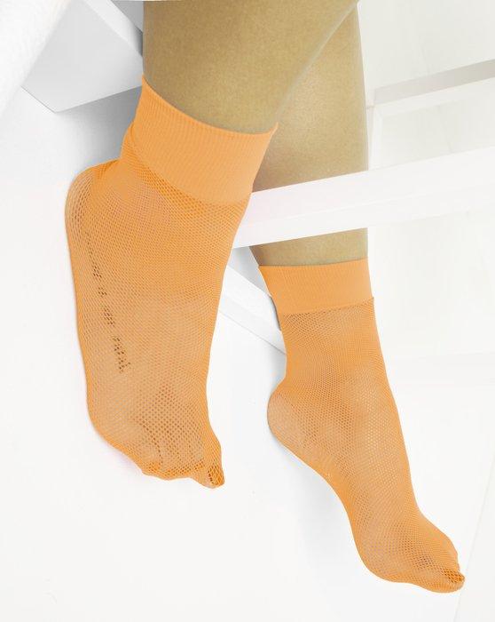 Light Orange Fishnet Anklet Style# 1429 | We Love Colors