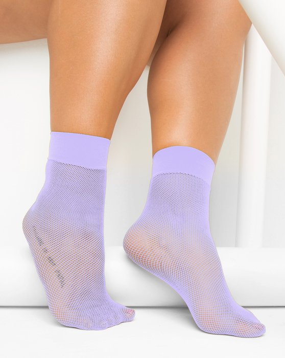 Lilac Fishnet Anklet Style# 1429   We Love Colors
