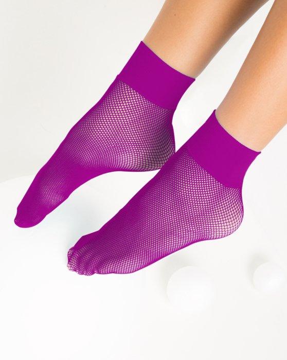 Magenta Fishnet Anklet Style# 1429 | We Love Colors