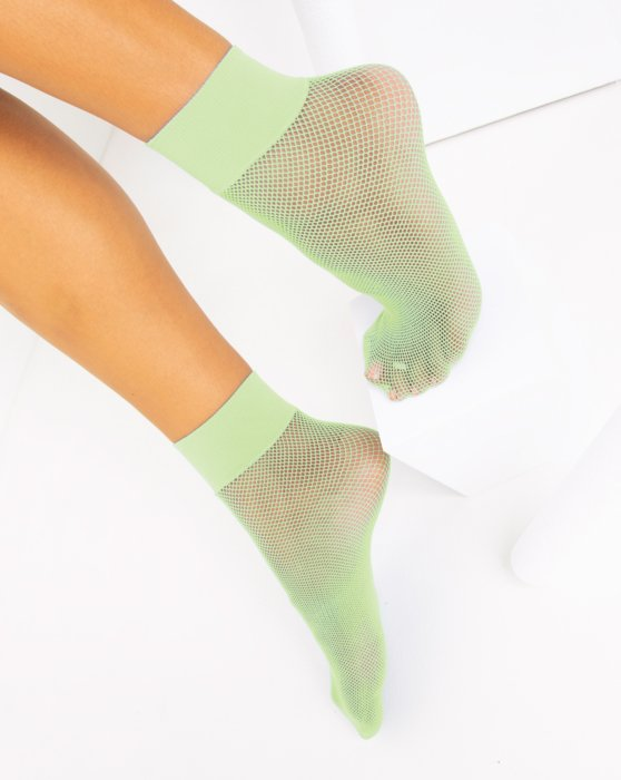Mint Green Fishnet Anklet Style# 1429   We Love Colors