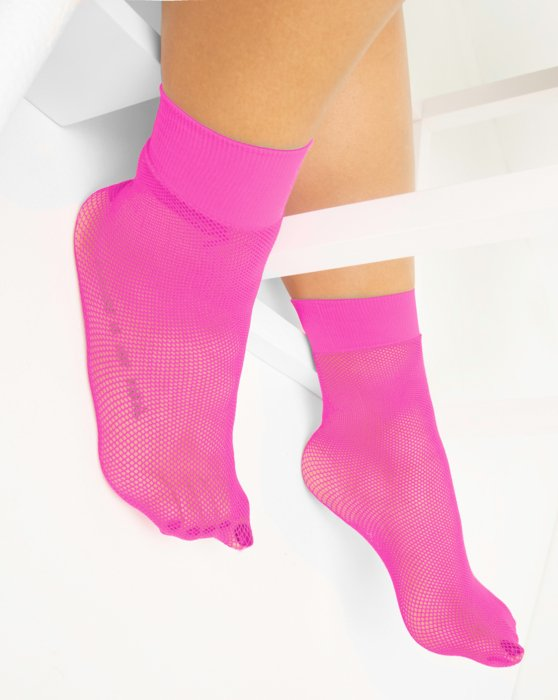 Neon Pink Fishnet Anklet Style# 1429 | We Love Colors