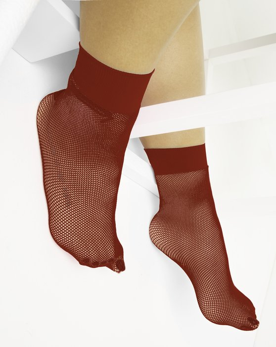 Rust Fishnet Anklet Style# 1429   We Love Colors