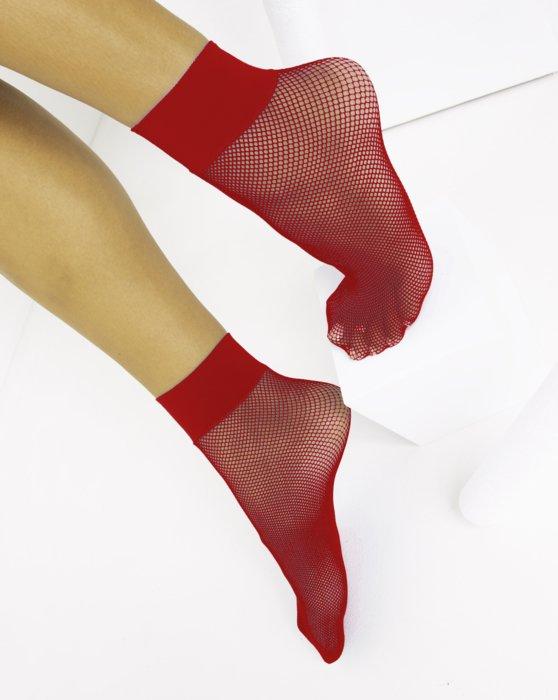 Scarlet Red Fishnet Anklet Style# 1429 | We Love Colors