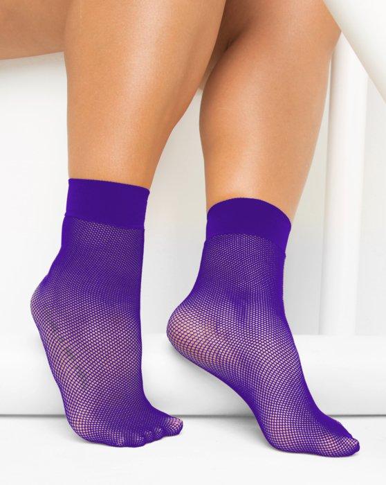 Violet Fishnet Anklet Style# 1429   We Love Colors