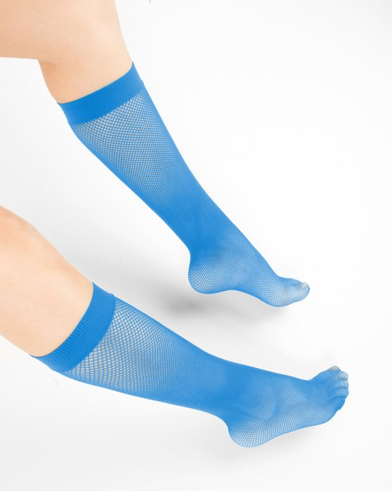 Medium Blue Fishnet Knee Highs Style# 1431 | We Love Colors