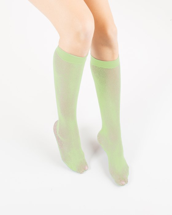 Mint Green Fishnet Knee Highs Style# 1431 | We Love Colors
