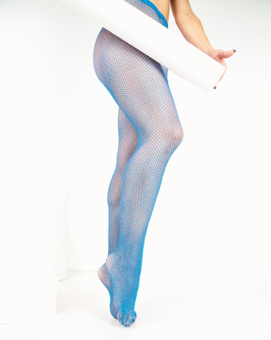 Turquoise Lurex Glitter Fishnet Style# 1451 | We Love Colors