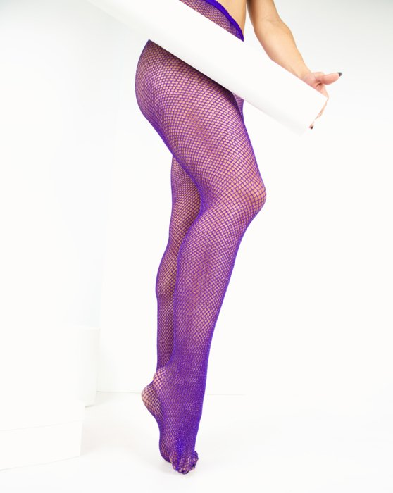 Violet Lurex Glitter Fishnet Style# 1451   We Love Colors