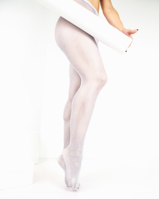 White Lurex Glitter Fishnet Style# 1451 | We Love Colors