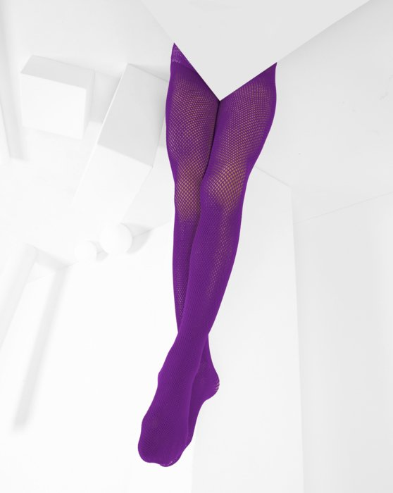 1471 Amethyst Kids Fishnet Tights