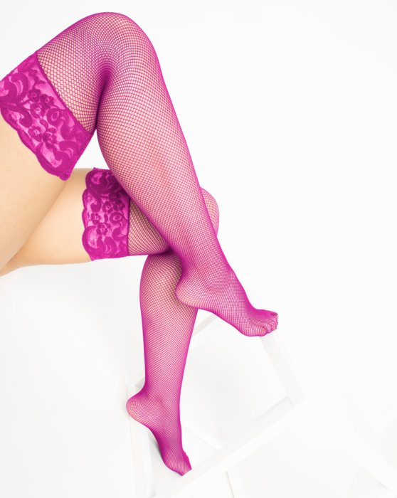 Fuchsia Over The Knee Fishnets Style# 1485 | We Love Colors
