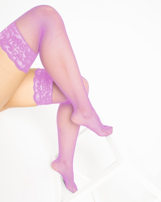 Orchid Pink Over The Knee Fishnets Style# 1485 | We Love Colors