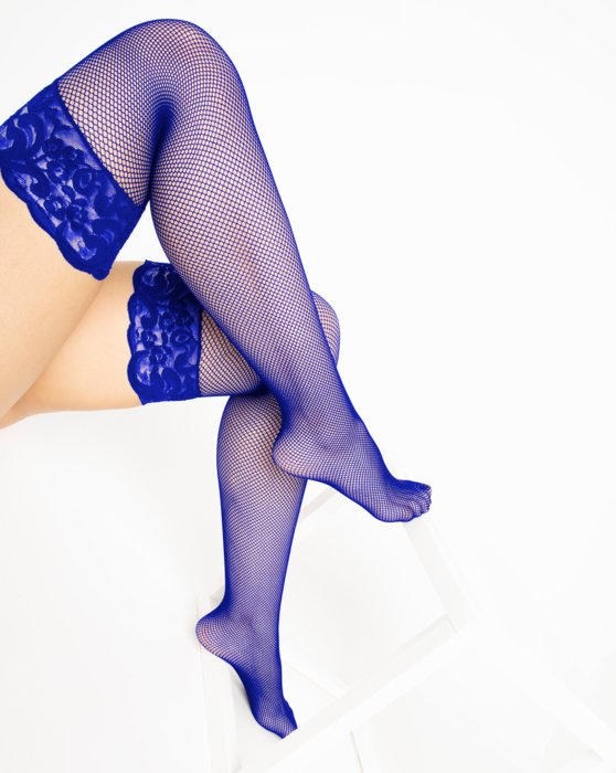 1485 Royal Over Knee Lace Top Fishnets