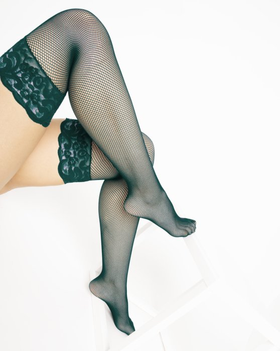 Spruce Green Over The Knee Fishnets Style# 1485   We Love Colors