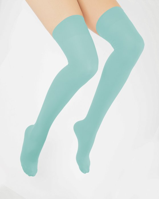 Dusty Green Thigh Highs Style# 1501 | We Love Colors