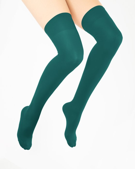 Spruce Green Thigh Highs Style# 1501   We Love Colors