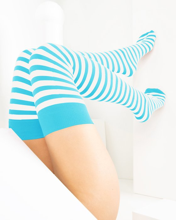 1505 W Neon Blue Tights