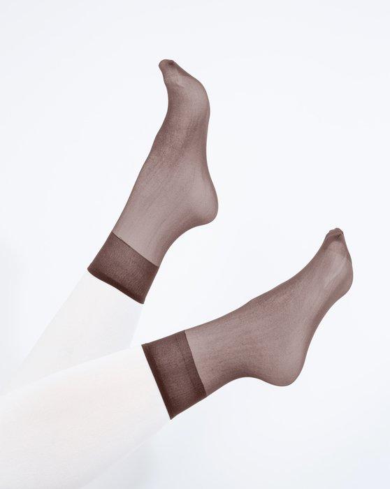 Mocha Sheer Anklet Style# 1528 | We Love Colors