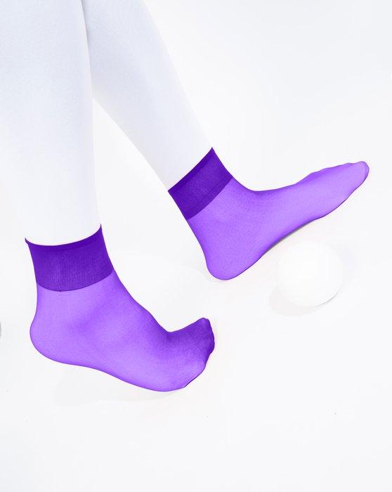 Violet Sheer Anklet Style# 1528 | We Love Colors
