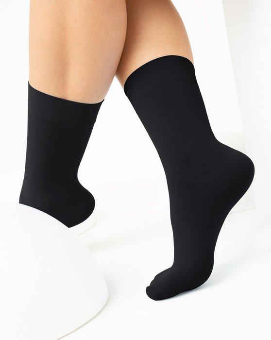 1529 Black Nylon Socks