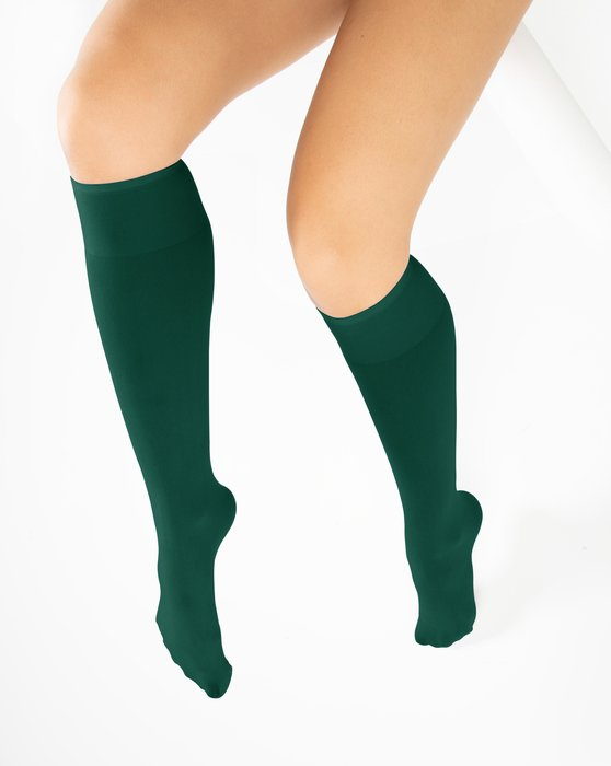 Hunter Green Knee Highs Style# 1532 | We Love Colors