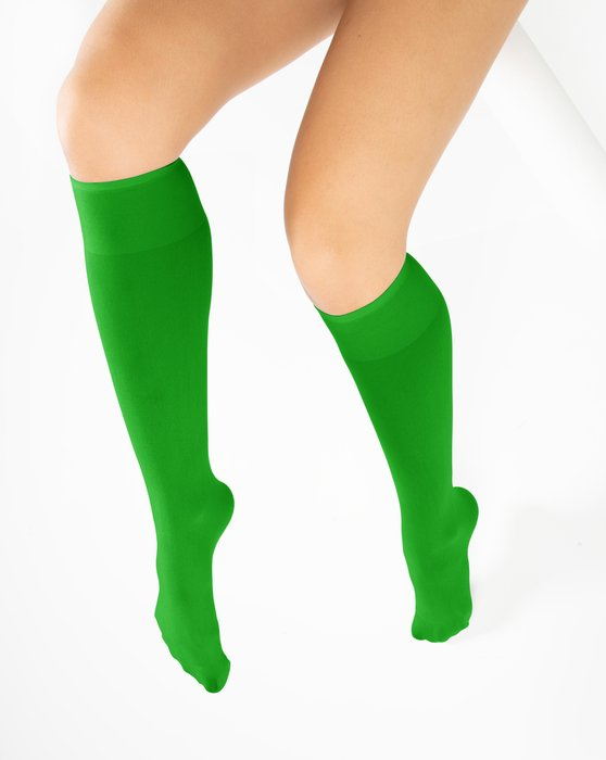 Kelly Green Knee Highs Style# 1532 | We Love Colors