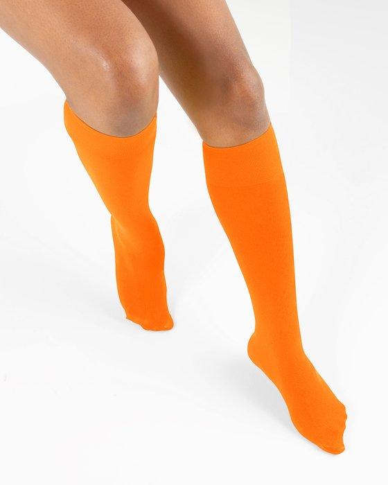 Neon Orange Knee Highs Style# 1532   We Love Colors