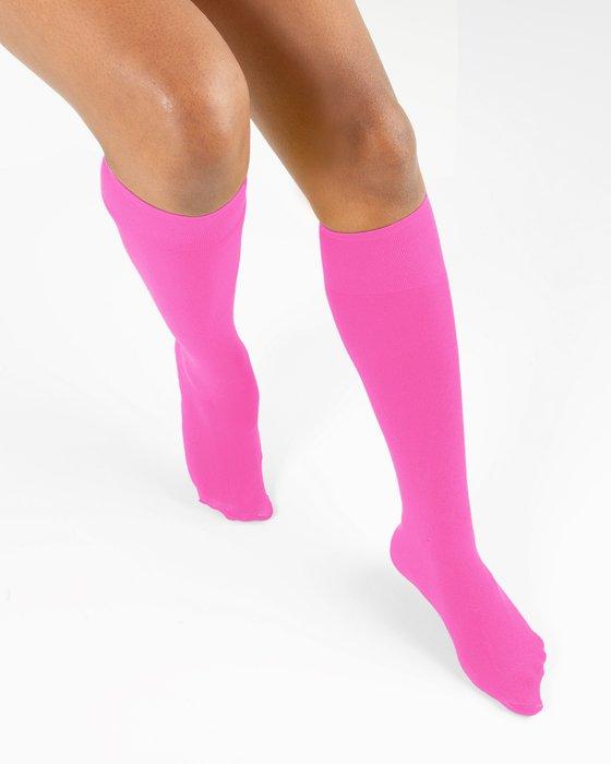 Neon Pink Knee Highs Style# 1532   We Love Colors