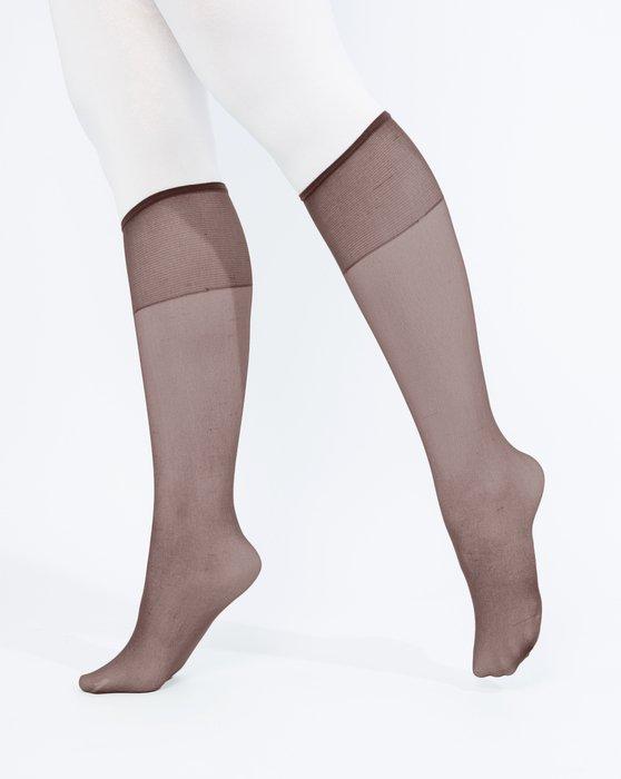 Mocha Sheer Knee Highs Style# 1536 | We Love Colors