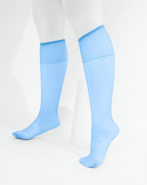 Sky Blue Sheer Knee Highs Style# 1536   We Love Colors