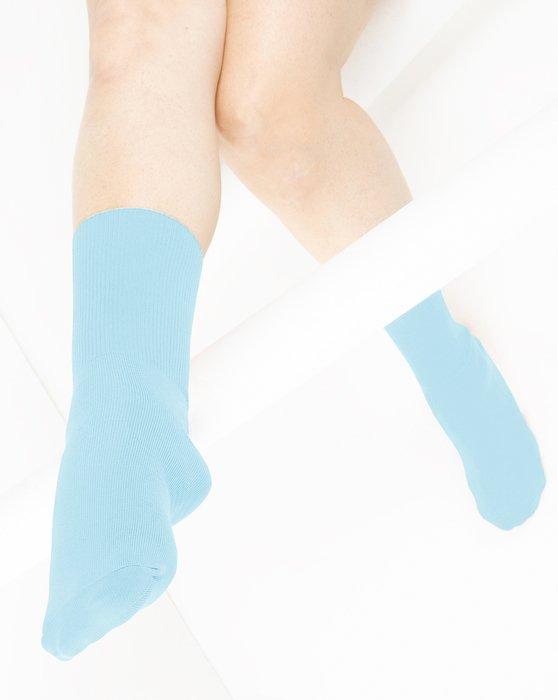 Aqua Nylon Socks Style# 1551 | We Love Colors