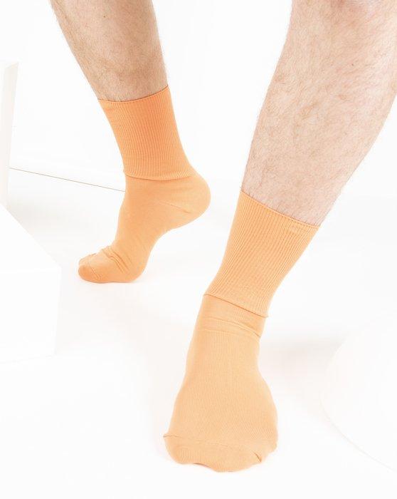 Light Orange Nylon Socks Style# 1551   We Love Colors