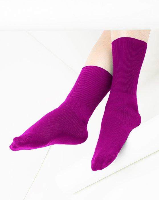 Magenta Nylon Socks Style# 1551   We Love Colors