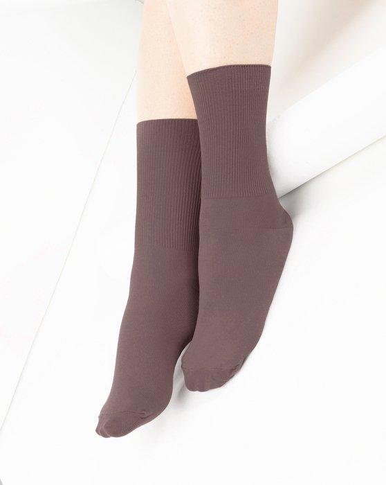 Mocha Nylon Socks Style# 1551   We Love Colors